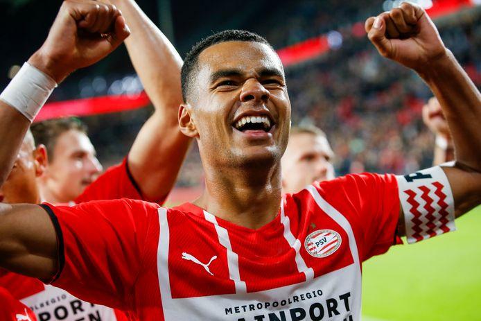 Cody Gakpo in het shirt van PSV.