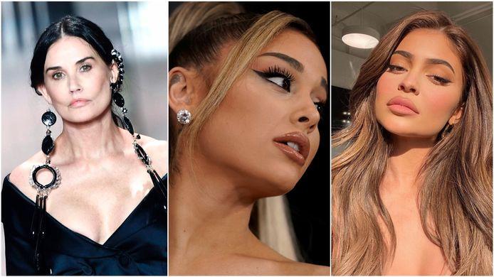 Demi Moore - Ariana Grande - Kylie Jenner