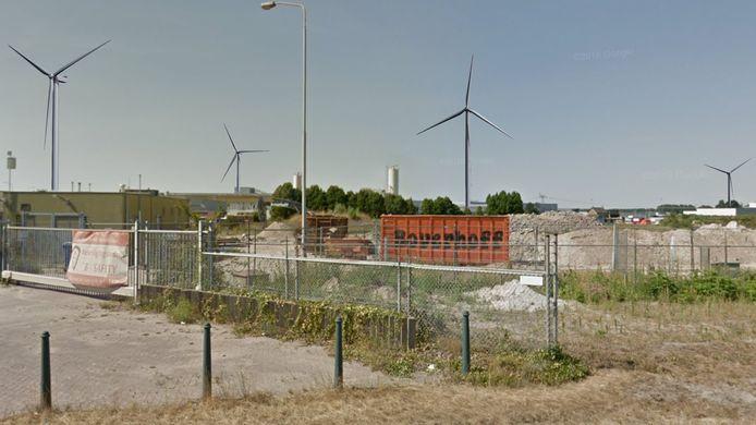 Visualisatie van Windpark De Rietvelden gemaakt vanaf de Zandzuigerstraat in Den Bosch.