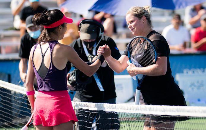Kim Clijsters a été battue 6-3, 5-7, 6-3 par la Taïwanaise Hsieh Su-Wei (WTA 97) pour son premier match depuis l'US Open 2020.