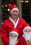 Marieke Veugelink met haar twee neefjes.