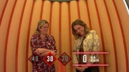 Karen Damen en Kim Clijsters gibberen wat af in 'Twee Tot De Zesde Macht'