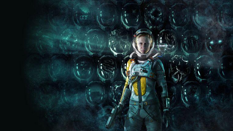 Astronaute Selene sterft een duizend doden in Returnal - en verslijt heel wat ruimtehelmen. Beeld Housemarque