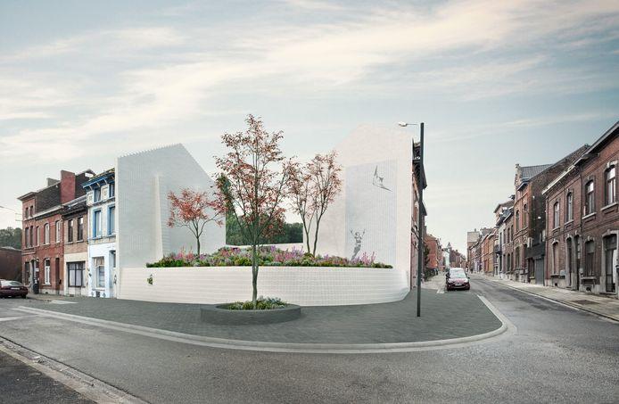 Parc mémoriel qui va remplacer la tristement célèbre ancienne maison de Marc Dutroux à Marcinelle (Charleroi)