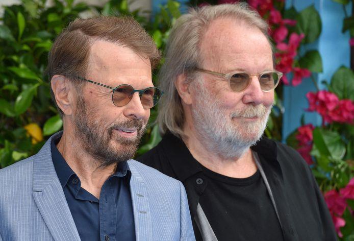 Björn en Benny op de première van 'Mamma Mia! Here We Go Again' in 2018.