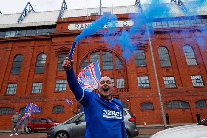 Rangers-fans vieren de titel.