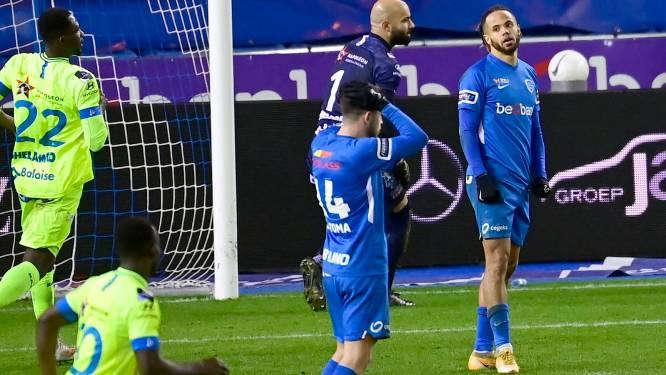 Met z'n tienen laat Genk de zege tegen AA Gent nog liggen: Bongonda mist penalty op 2-1
