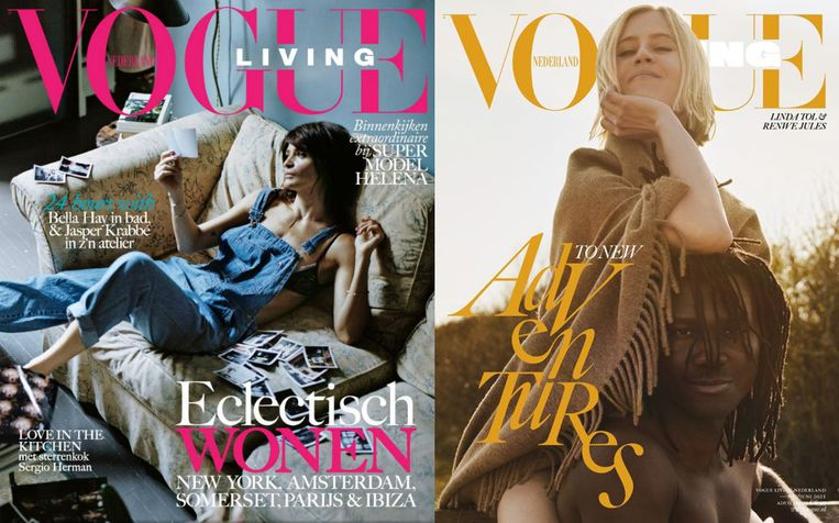 De eerste (2016) en laatste editie van Vogue Living.  Beeld