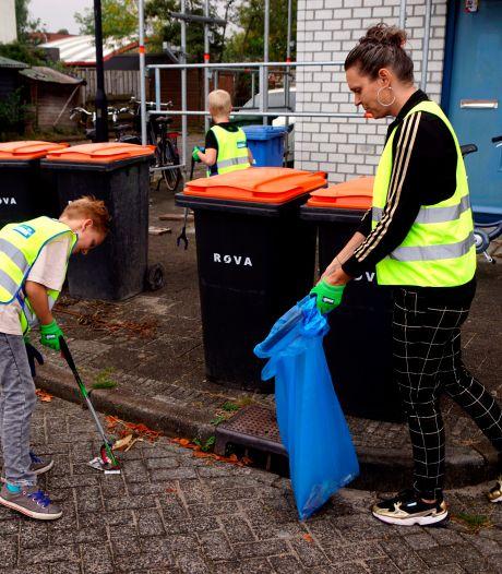 Kinderen speuren naar zwerfafval in Amersfoort