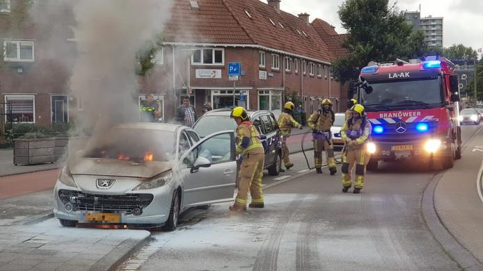 De brandweer kon het vuur uiteindelijk blussen.