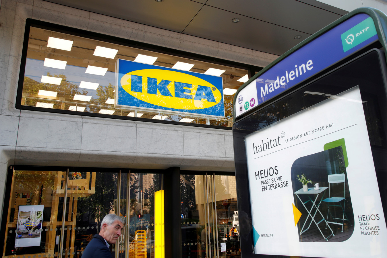 Ikea opende vorige maand ook een stadswinkel in hartje Parijs (Boulevard de la Madeleine).