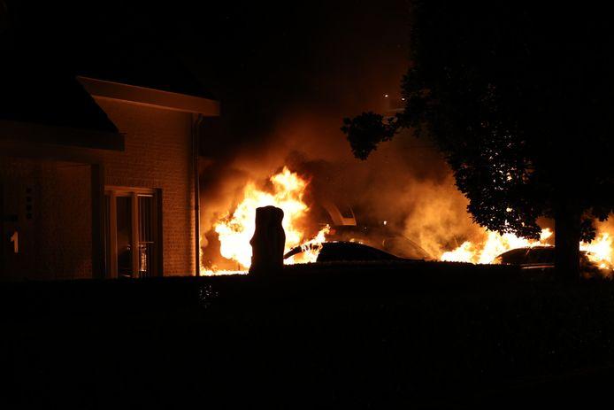 Brand in Waalwijk.