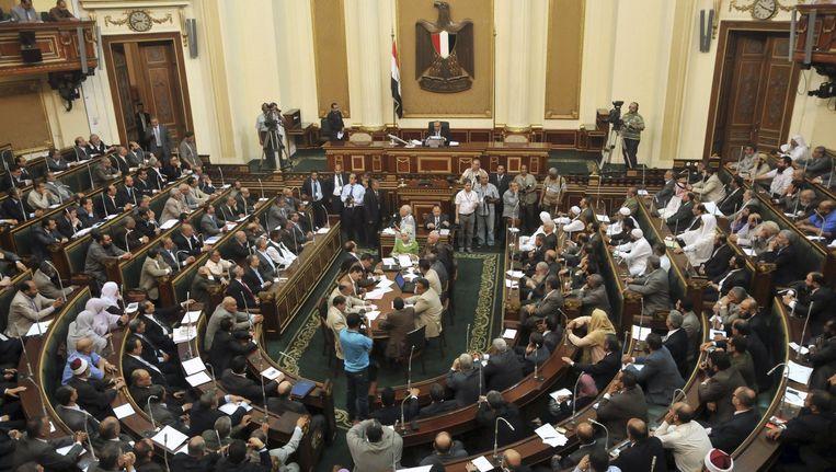 Het Egyptische parlement, hier op een foto uit 2012. Beeld ap