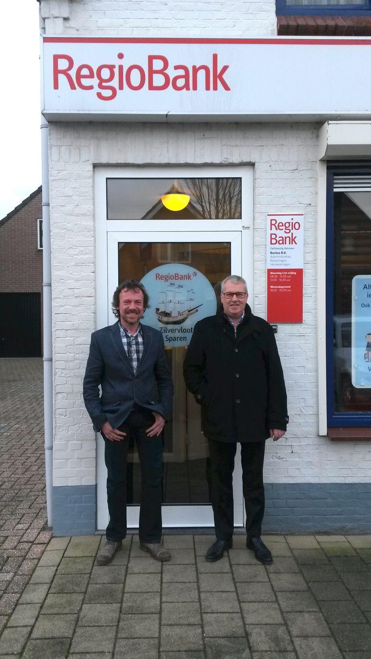Gino Depauw en Ronnie Roctus in Kloosterzande. Beeld