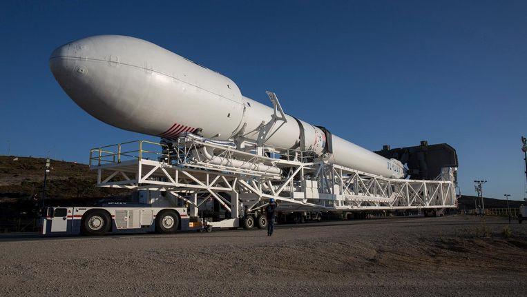 De neuskegel van een Falcon-9-raket van SpaceX van een eerdere missie. Beeld null