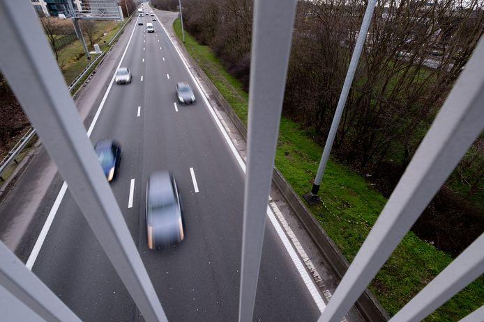 De autosnelweg E19 ter hoogte van Mechelen-Noord.