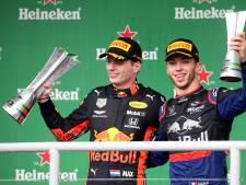 Verstappen wint bizarre GP, Ferrari's klappen bovenop elkaar
