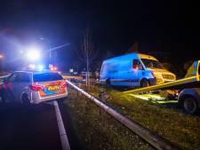 Automobilist vernielt vangrail in Schijndel