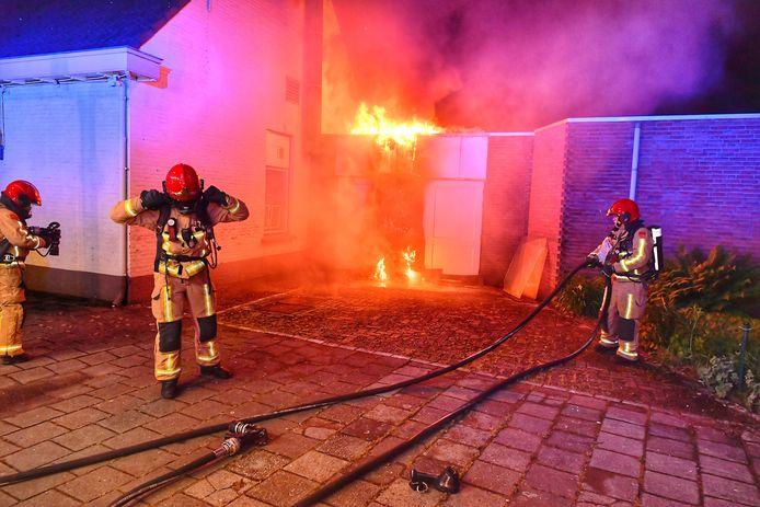 Brand in opbergschuur café de Bommel Valkenswaard.