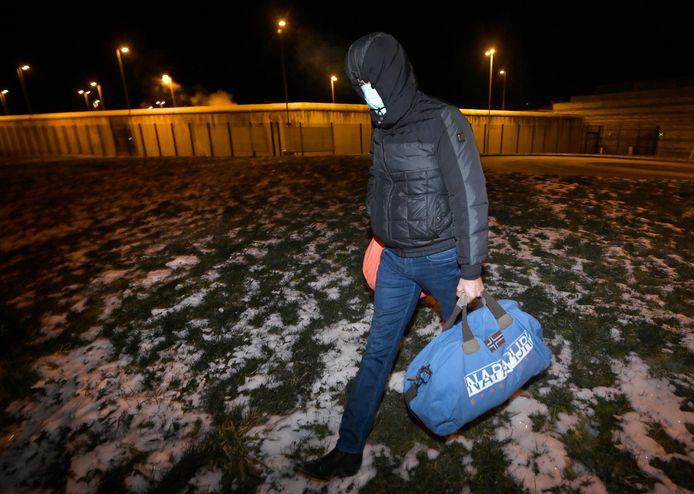 Stéphane Moreau quittant la prison de Marche-en Famenne le 11 février dernier.