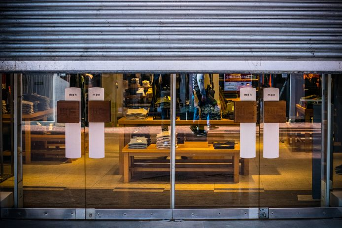 Gesloten winkels in het centrum van Eindhoven.