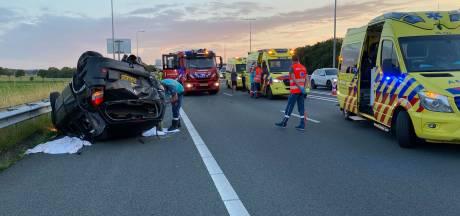 Zwaar ongeluk op A1 bij knooppunt Beekbergen