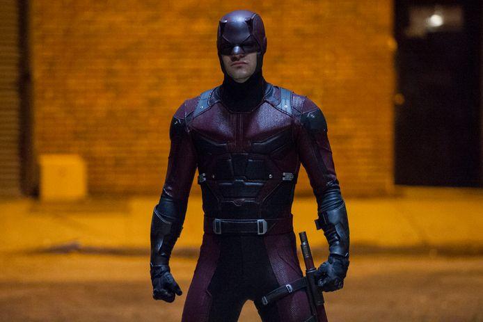 Charlie Cox als Matt Murdock in de serie Marvel's Daredevil.