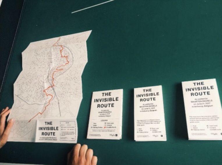 Een eerste (niet definitieve) ontwerp van 'The Invisible Route'. Beeld Oogst