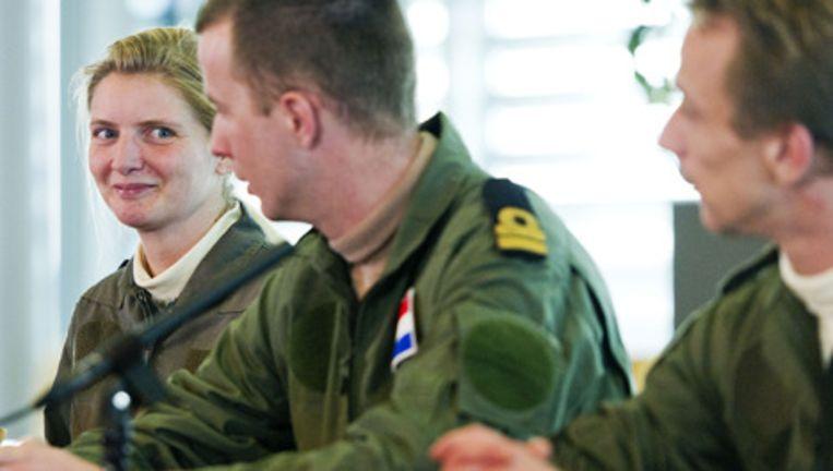 De drie Nederlandse militairen die twaalf dagen vastzaten in Libie. Foto ANP Beeld
