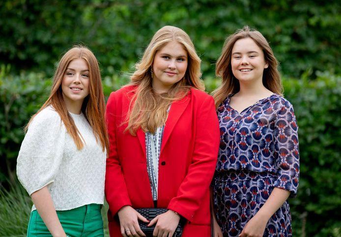 Van links naar rechts: Alexia, Amalia en Ariane.