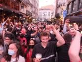 Bruxelles a fêté la première victoire des Diables Rouges