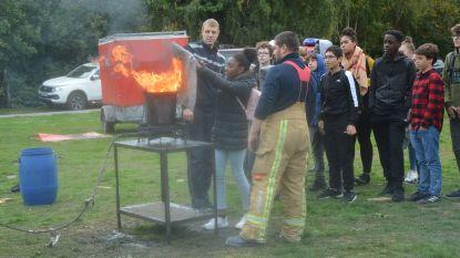 Leerlingen crashen, gaan over de kop en leren over brandbestrijding tijdens 'Dag van de Veiligheid'