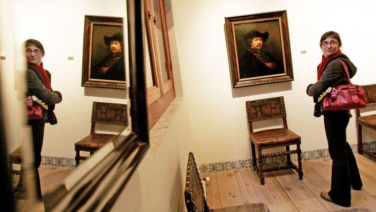 Een bezoekster in het Rembrandthuis. Beeld ANP