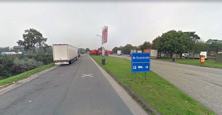 De snelwegparking van de E40 in Groot-Bijgaarden.