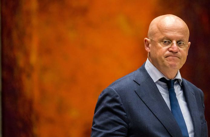 Minister van Justitie en Veiligheid Ferd Grapperhaus tijdens het vragenuur in de Tweede Kamer.