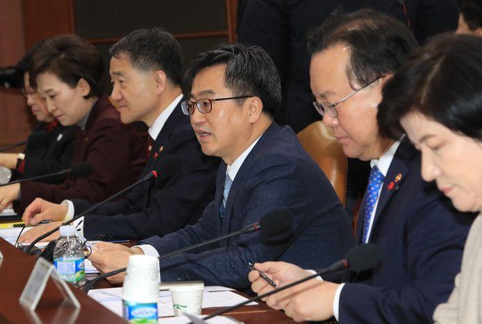 De Zuid-Koreaanse minister van Financiën Kim Dong-yeon.