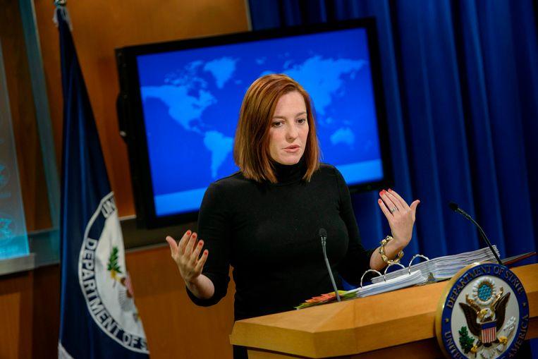 Jen Psaki, een belangrijke medewerkster van het campagneteam van Biden, wordt de perschef van het Witte Huis. Beeld AFP
