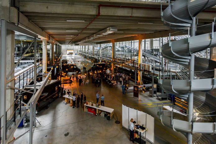 Het in 2019 nieuw geopende sorteer- en distributiecentrum van UPS in Eindhoven.