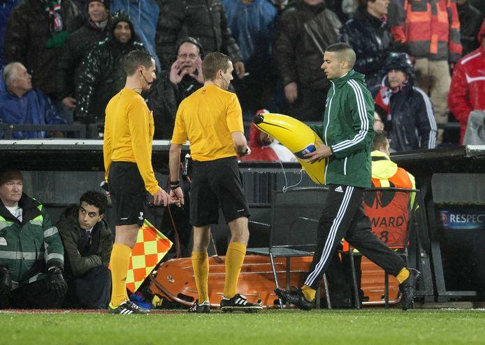 Het banaan-incident tegen AS Roma.