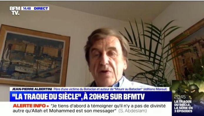 Jean-Pierre Albertini getuigt bij BFM TV.