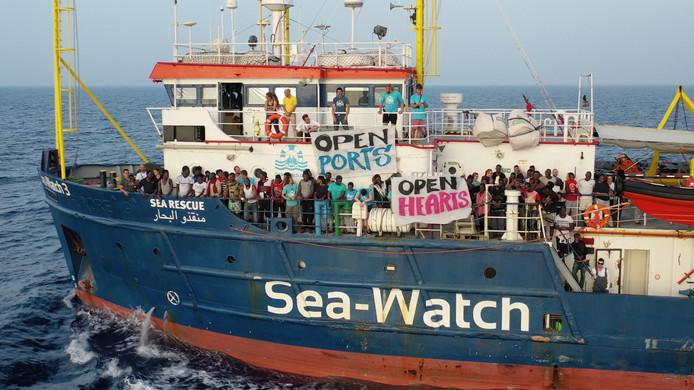 Beeld van de Sea-Watch eerder deze maand.