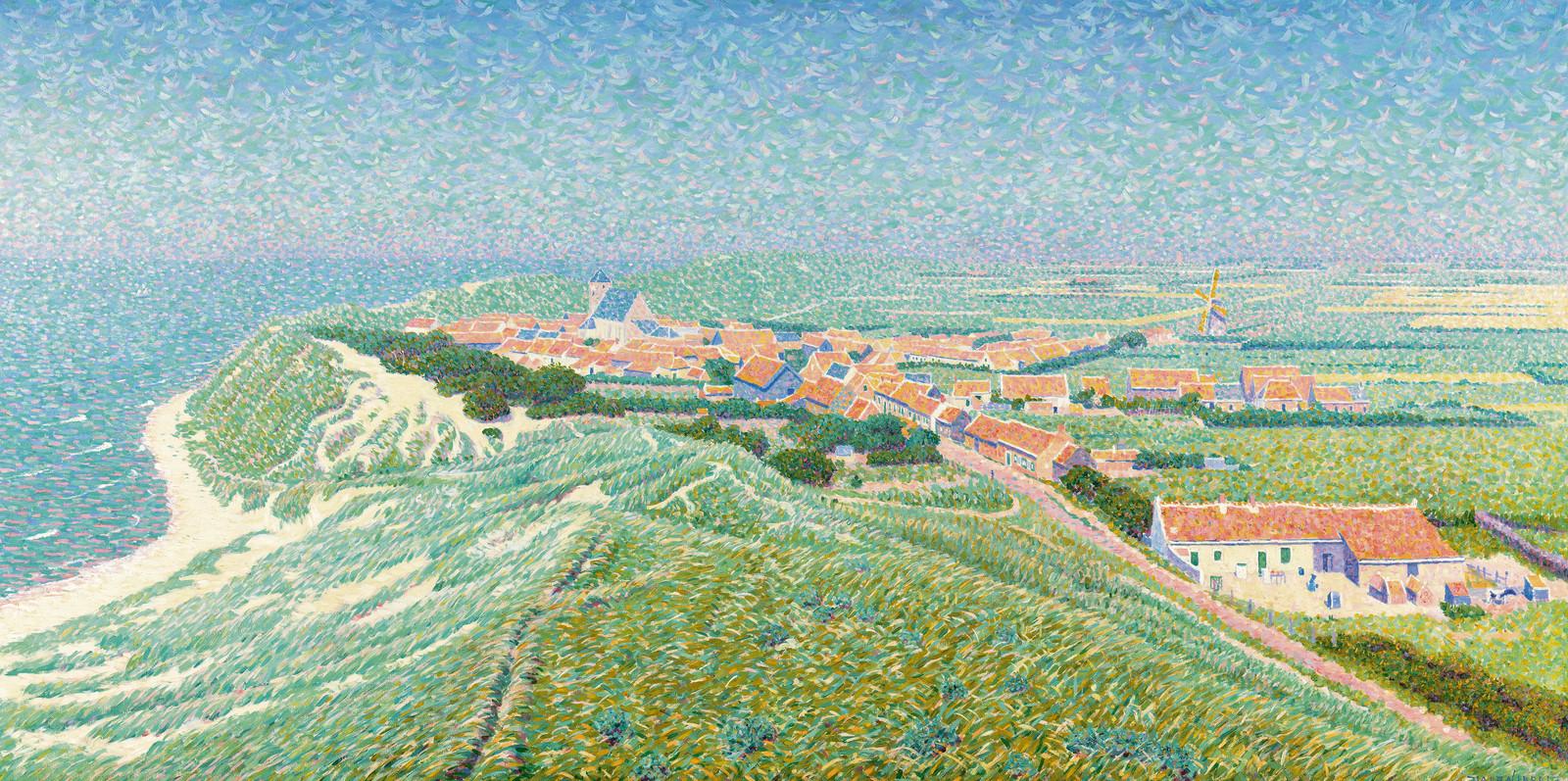 Gezicht op het dorp Zoutelande, Ferdinand Hart Nibbrig, 1900 - 1912 - Rijksmuseum