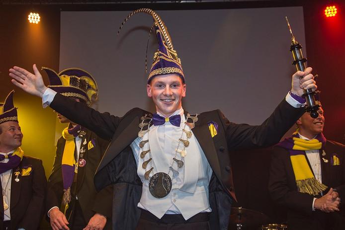 Sjoerd Zeebregts nieuwe prins van de Pezeriken Hilvarenbeek.