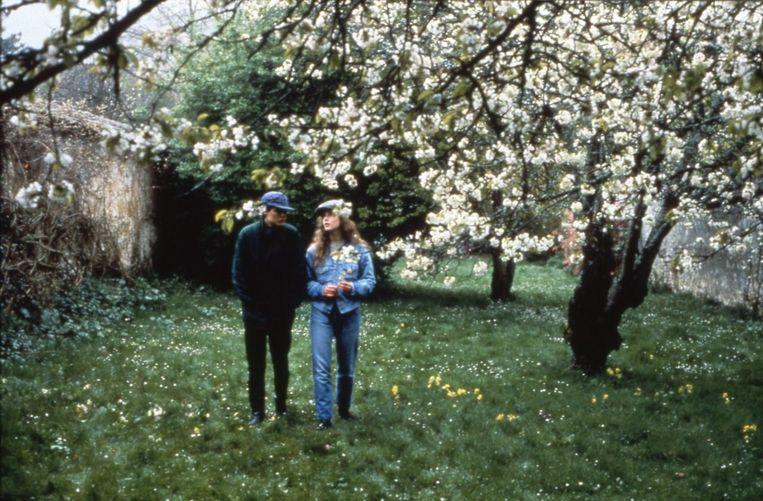 Hugues Quester en Anne Teyssèdre in Conte de printemps (Eric Rohmer, 1990). Beeld