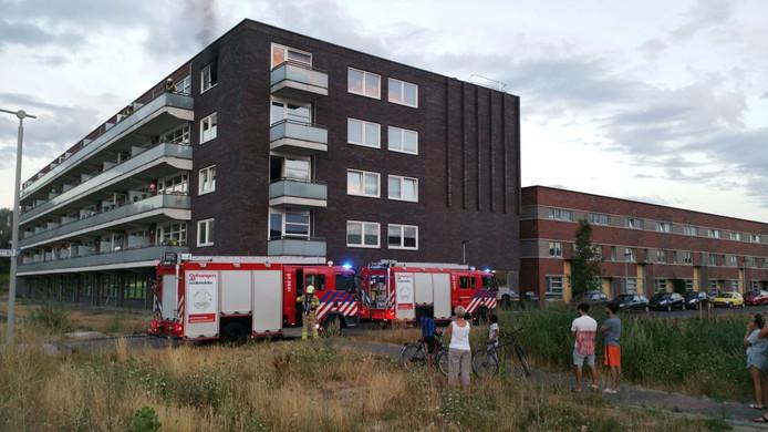 Appartement in brand in Arnhem.