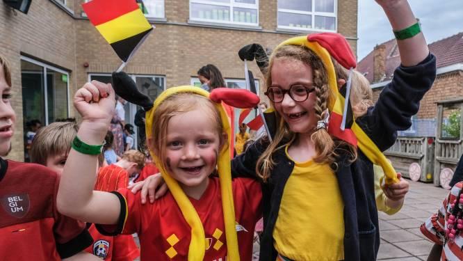 """Leerlingen Immaculata Ieper helpen Rode Duivels aan de overwinning: """"We schreeuwen onze voetballers naar de top"""""""