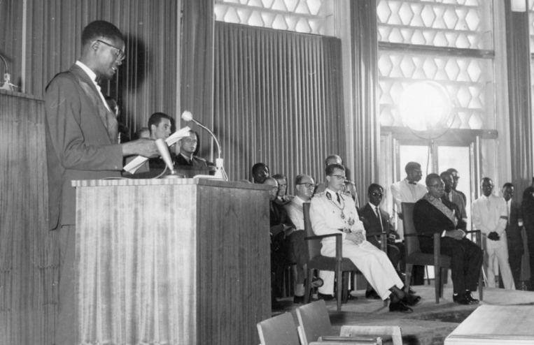 'Met zijn donderpreek op de dag van de Congolese onafhankelijkheid, in het bijzijn van een piepjonge Boudewijn, tekende Lumumba wellicht zijn doodvonnis.' Beeld
