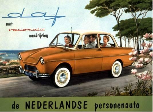 De DAF in de jaren zestig van de vorige eeuw was de eerste Nederlandse auto met automatische versnelling.