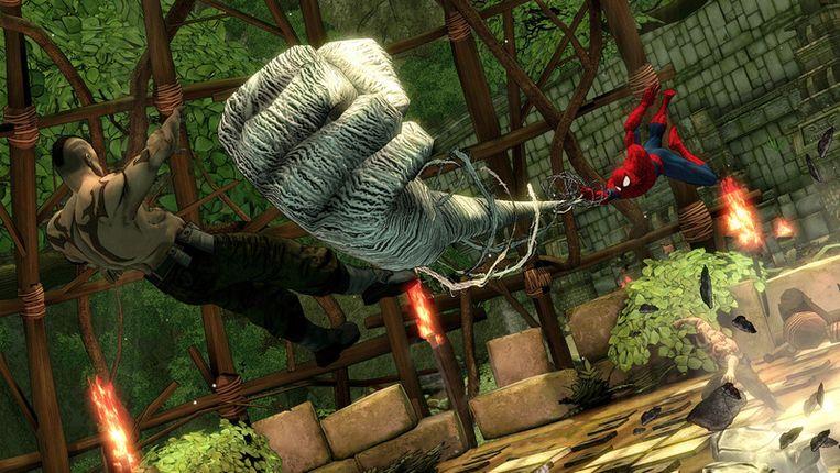 Spider-Man spint niet alleen een web. Beeld