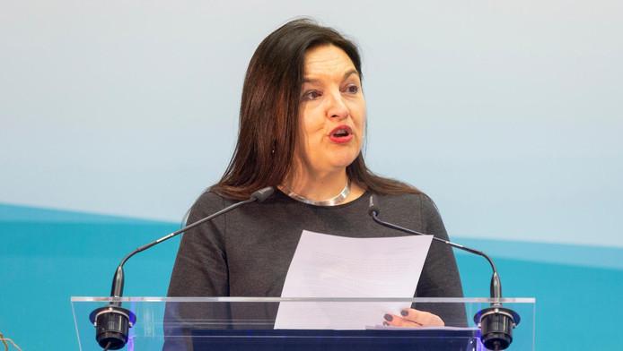 Marie-Christine Marghem, ministre de l'Énergie.